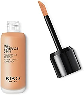 KIKO MILANO - Full Coverage Foundation and Concealer Liquid Foundation Makeup Innovative Formula Superior Coverage | Color Warm Beige 30 | Cruelty Free | Professional Makeup | Made in Italy