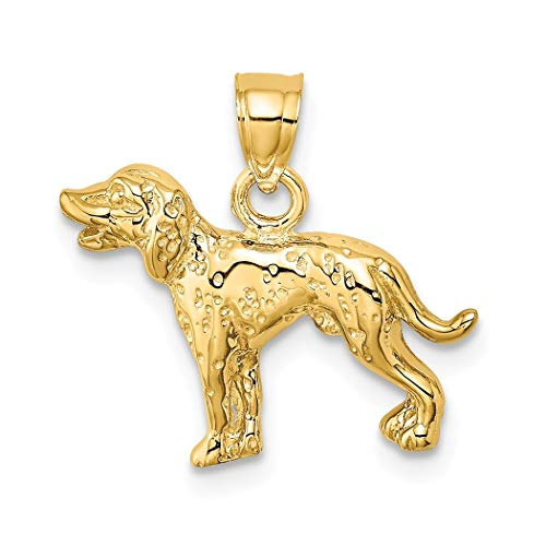 Colgante de perro dálmata de oro de 14 quilates