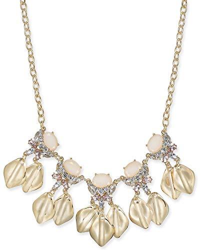 INC International Concepts Collar de pétalos de cristal de tono dorado, 18 longitudes