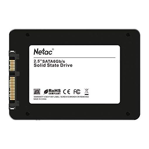"""Netac SSD 128GB, Disco Duro Estado sólido Interna, 3D NAND Flash Unidad, 2.5"""" SATAIII 6Gb/s, hasta 510MB / s con caché SLC para Notebook, Tableta, computadora de Escritorio y PC 3"""