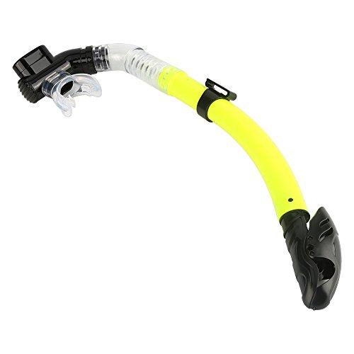 Zopsc-1 Tubo de respiración de Aire Tubo de esnórquel Respire Esnórquel Buceo Ambiental Esnórquel Buceo acuático para esnórquel(Amarillo)