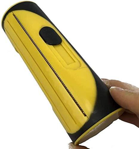 Fellpflege Bürste, Hundebürste & Katzenbürste | Massageffekt & Deckhaarschutz | Fellbürste entfernen Sie Hund/Katze und andere Tierhaare (Color : Yellow)