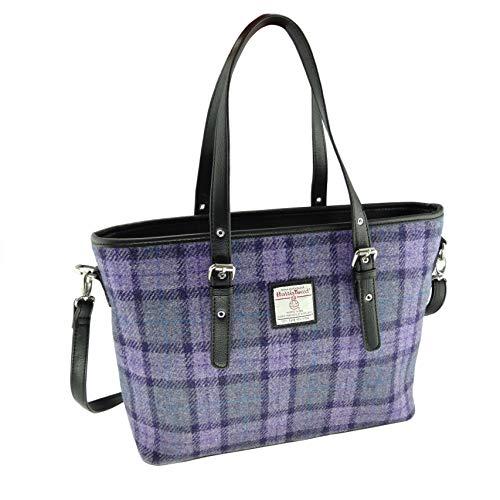 Harris Tweed LB1028 COL 89 Damen-Handtasche, groß, Lila kariert