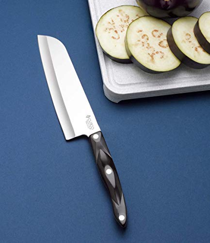 "CUTCO Model 1766 Santoku Knife.......... 7.0"" High Carbon Stainless Straight Edge blade.............5.6"