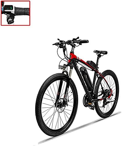 Bicicleta De Montaña Eléctrica para Adultos De 26 Pulgadas, 36V10.4 Batería De Litio Aleación De Aluminio Bicicleta Asistida Eléctrica (Color: B) Montar Al Aire Libre