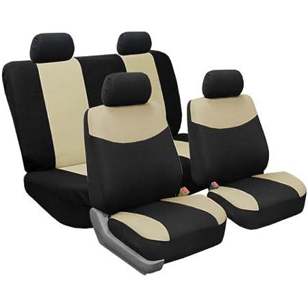 Beige FH Group International Inc. FH GROUP FB070BEIGE115 Lot de 11 protections en tissu de qualit/é sup/érieure pour si/èges auto