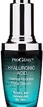 Progenix Hyaluronic Acid Face Serum. Intense hydrating serum with Hyaluronic Acid, Organic Aloe Vera, Vitamin E for dry skin and fine lines. 1oz.