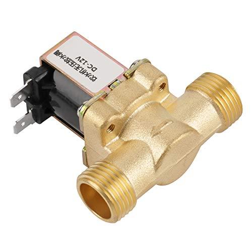 Elektrische magneetklep, 12 V BSPP G1 / 2 messing N / C Normaal gesloten 2-weg magneetklep, drukregelklep voor boiler / drinkfontein