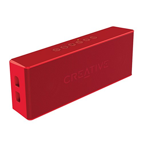 Creative MUVO 2 - Leistungsstarker, kompakter, wetterfester Wireless Bluetooth Lautsprecher (für Apple iOS/Android Smartphone, Tablet/MP3) rot