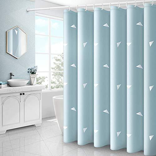 Peng Sounder-hm Duschvorhänge Polyester-Gewebe Duschvorhang blaues Dreieck Gedruckt schimmelbeständig wasserdicht Badezimmer-Vorhang for Home Bad für Badezimmer (Farbe : Blau, Größe : 180x180cm)