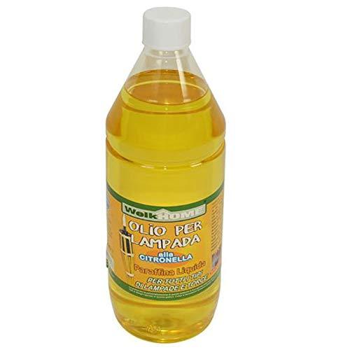 Bottiglia Olio alla Citronella 1 Litro per Torce Fiaccole Anti Zanzare Flacone 1000 ml