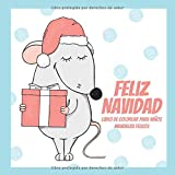Feliz Navidad - Libro de colorear para niños - Mandalas felices (Colorante de Navidad favorito)