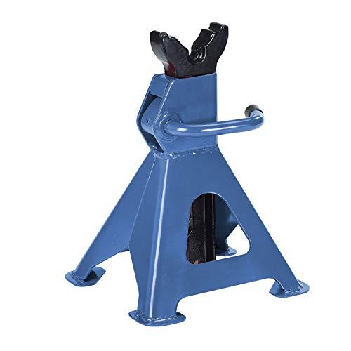 Unitec 10889 3000 kg für PKW höhenverstellbar Unterstellbock Profi 3 Tonnen in blau Sicherheitsböcke Stützen 4 Füsse verstellbar