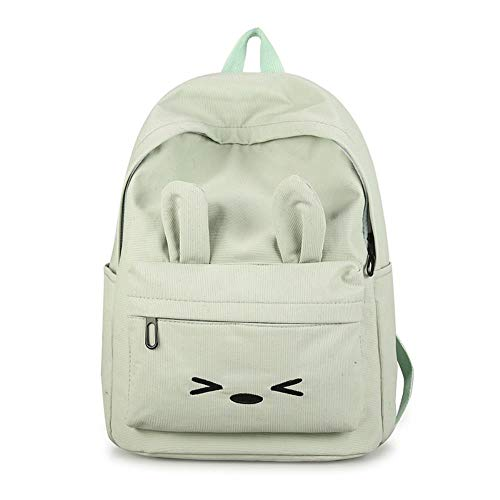 SAMJGF Leisure backpack Casual Cute Shoulder Bag Female Oxford Cloth Splash-Proof Backpack, Soda Green