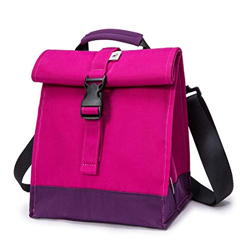 Sunny Bird Insulated Lunch Bag Rolltop Lunch Box for Women, Girls, Teens and Kids (Purple)