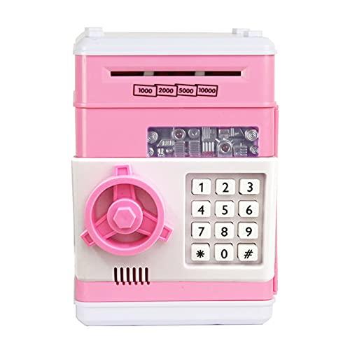 Aibecy Hucha electrónica, mini cajonera con contraseña para dinero, dinero en efectivo, monedas, auto desplazamiento de papel, cuenta tu dinero para niños, niñas y niños