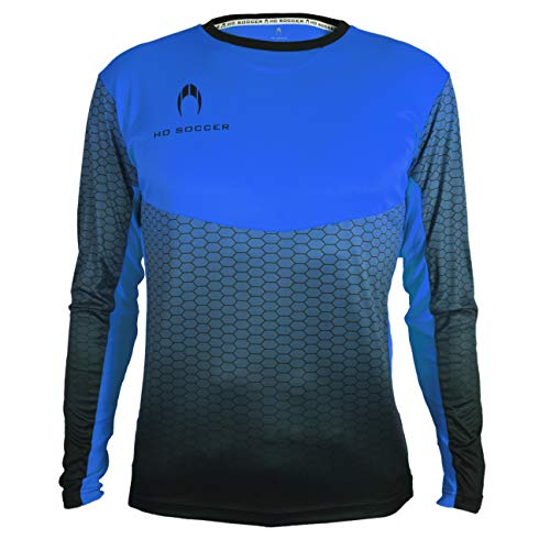 HO Soccer Zamora III Camiseta de Portero Manga Larga, Hombre, Azul, XXL