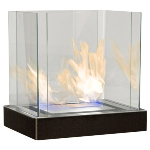 Radius Design Top Flame 3 L schwarz gebürsteter Edelstahl Ethanolkamin 551 k