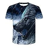 SSBZYES Camiseta De Verano para Hombre Camiseta De Manga Corta para Hombre Camiseta De Gran Tamaño Camiseta con Estampado De Cuello Redondo Camiseta con Estampado De Lobo Camiseta con Fondo
