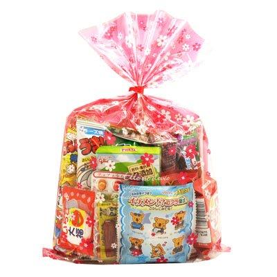 花柄袋 480円 お菓子 詰め合わせ (Bセット) 駄菓子 袋詰め おかしのマーチ