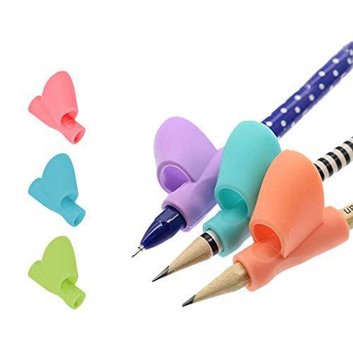 TONY STARK 3 Pcs Pencil Grips For Kids Handwriting, Children Pencil Holder Pen Writing Aid Grip Posture Correction Tool