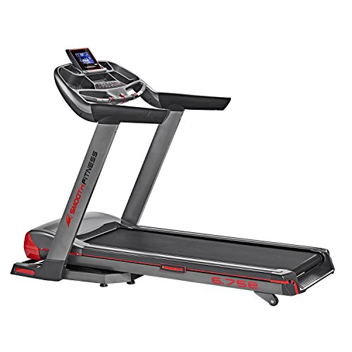 Smooth Fitness 6.75e Titan Plus Laufband - Bluetooth Connect+ App Steuerung, 3.0 PS Motor, 50x145cm Lauffläche, Im-Pression™ Dämpfung, ViviClear™ 7