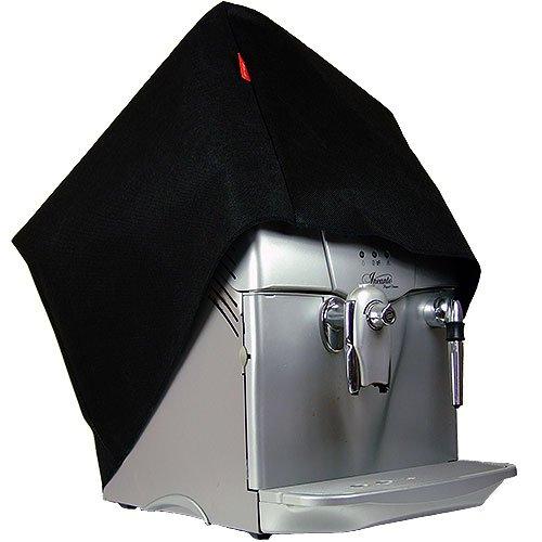 ROTRi® maßgenaue Staubschutzhülle für Kaffeemaschine DeLonghi Primadonna Exclusive Esam 6900.M - schwarz
