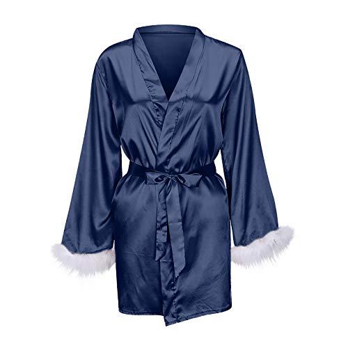 Women Long Nightgown Satin Housewear Wrap Belt Plus Size Ladies Sleepwear Sexy Nightwear Best Wife Girlfriend Gift