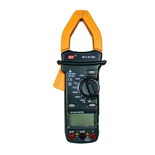 JHYS Probador eléctrico Digital portátil de múltiples Medidas MCH-98100A Multímetro de Pinza Digital Medidor de Pinza Digital de Rango automático CA CC de Alta precisión Probador de Alta precisión
