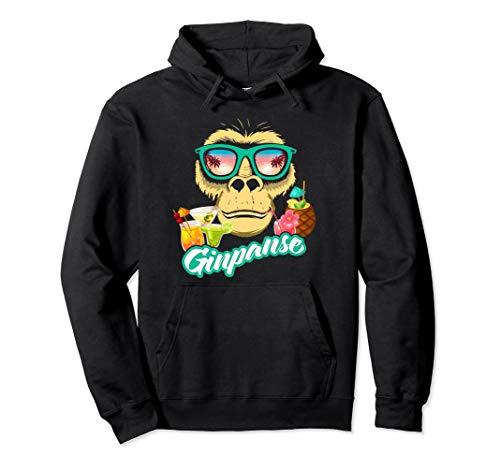 Ginpanse I Affe und Gin - Lustiges Geschenk Pullover Hoodie