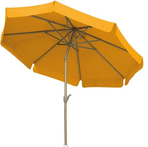Schneider Sonnenschirm Orlando, gelb, 270 cm rund, Gestell Aluminium, Bespannung Polyester, 5.7 kg
