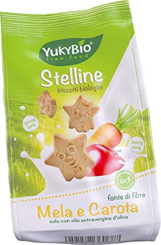 1 x Yukybio Biscotti Stelline con Mela e Carota 120g