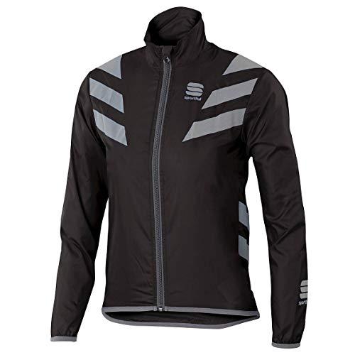 Sportful–Reflex Jacket Junior, Colore: Nero, Argento, Taglia 6/