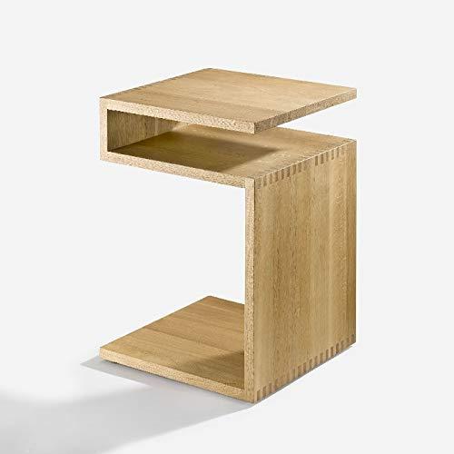 Lambert - Beistelltisch, Tisch - DEPOSITO - Eiche - geölt - Z-Rack - 44,5 x 44,5 x 63 cm