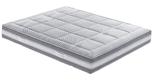 Il Benessere Colchón ortopédico EcoLife Beneform Memory Cover desenfundable y Lavable Made in Italy