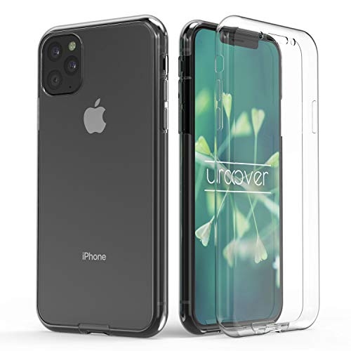 Urcover Rundum 360° Schutzhülle 360 Grad Case kompatibel mit Apple iPhone 11 Pro Max I Original berühmt durch Galileo I Vorne + Hinten geschützt I QI-fähig I Soft-Edition Hülle Transparent