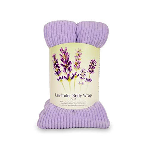 Zhu-Zhu Lavender Body Wrap - Microwavable Wheat Bag - Microwave Heat Pad Soothing Hot Pack - Lilac Fleece