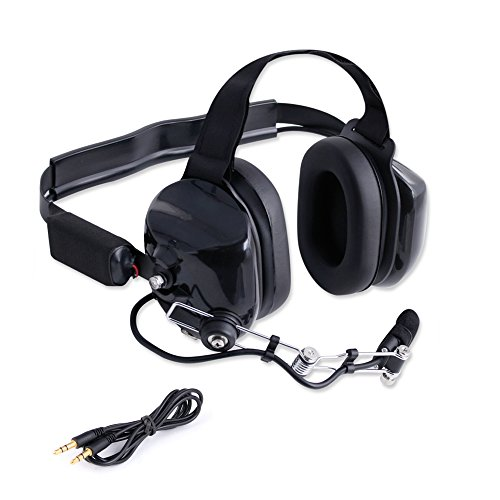 Rugged Radios H80 Double Talk Linkable Intercom Headset Kit - Connect Multiple Headsets Together To Communicate Directly with Each Other - Features 3.5mm Input Jack for Music / MP3 Players