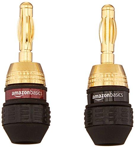 AmazonBasics Speaker Connector Banana Plugs - 6 pairs