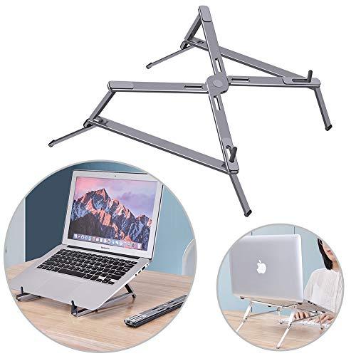 MOZX Laptop Stand, Multifunctional Heightening Bracket, Foldable Aluminum Portable Ventilated Desktop Laptop Holder, Ventilation Ergonomic Notebook, Compatible with Im(Ac) Laptop Computer Tablet