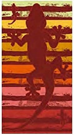 Multistripes drap de plage 100 x 180 cm ray/é de bain et serviette de plage en velours rouge, vert, mauve, bleu, drap de plage avec inscription
