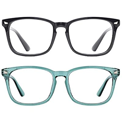 TIJN 2 Pack Blue Light Blocking Glasses for Wom...