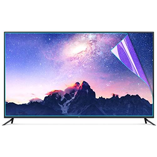 JHZDX 55-Zoll-Anti-Blue-Screen-schutzfolie, Kratzfeste Augenschutz-TV-Monitor-schutzfolie Einfach Zu Kleben Entwickelt für LCD-, LED-, 4K-OLED- und QLED-HDTV-Displays