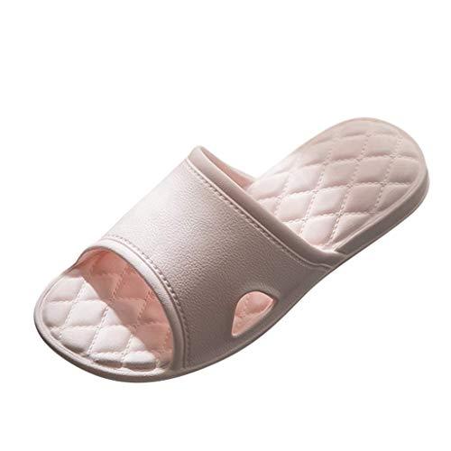 JFFFFWI Zapatillas de Ducha para Mujer Baño Pareja Zapatillas de Punta Abierta con Fondo Suave al Aire Libre