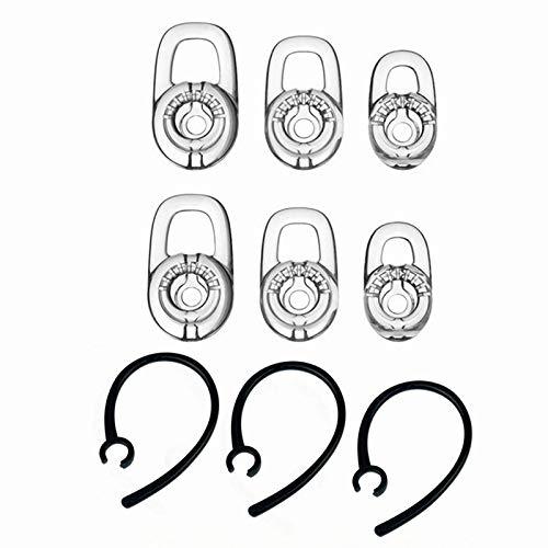 Miayaya - Juego de Ganchos de Repuesto para Auriculares Plantronics Voyager Edge / M165 M55 M100 MX100 975 925 con Bluetooth