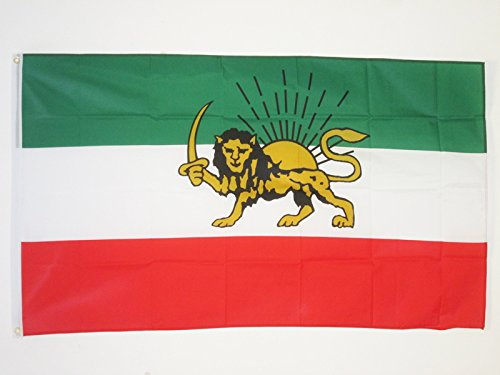 AZ FLAG Flagge Iran ALT EHEMALIGE PERSIEN 90x60cm - IRANISCHE Fahne 60 x 90 cm - flaggen Top Qualität
