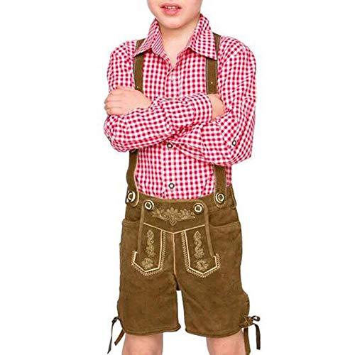 Qeedio Oktoberfest kostüm Junge deutsche traditionelle bayerische Ausstattung Kleidung Bauer kostüm Anzug für Kinder