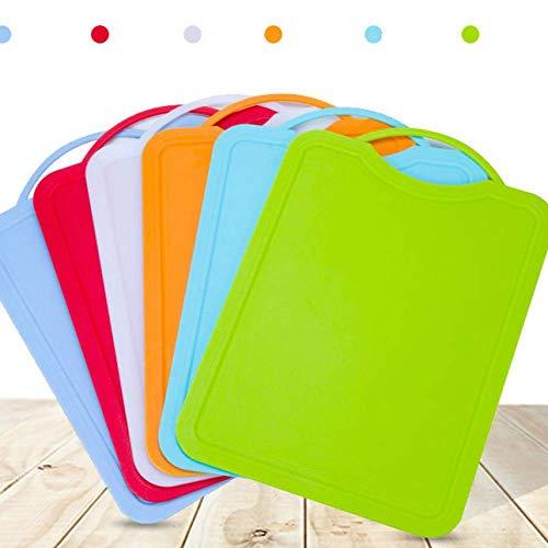 Kreative Kunststoff Schneiden Bord Für Küche/6 Farben/Spülmaschinenfest/BPA FREI/Nicht-slip Anti-mehltau Umweltschutz (360 × 250 × 4 Mm)