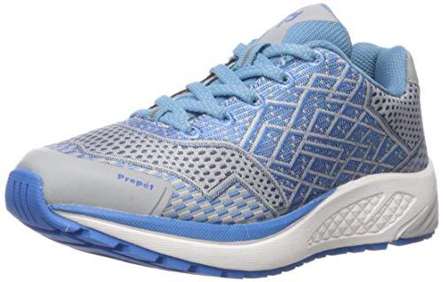 Propet Women's One Running Shoe, Blue/Silver, 8.5