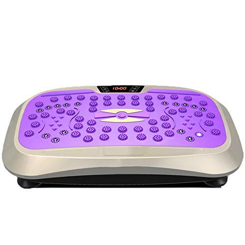 Power Slim Vibration Plate Fitness Machine, met afstandsbediening Silent Motors Stereo Vibration Board Oefen materiaal, Home Afvallen Motion